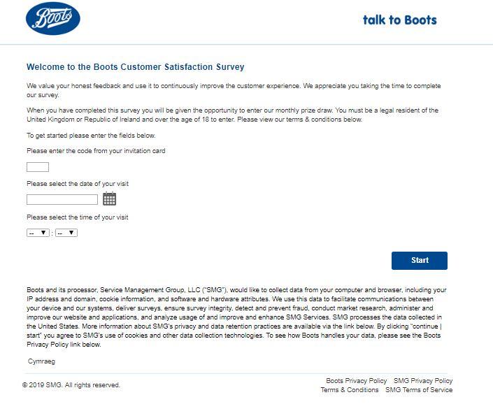 Boots Customer Opinion survey