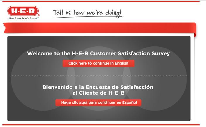 H-E-B Customer Survey