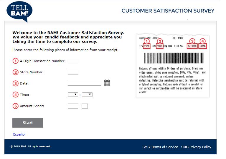 Books-A-Million Customer Feedback Survey