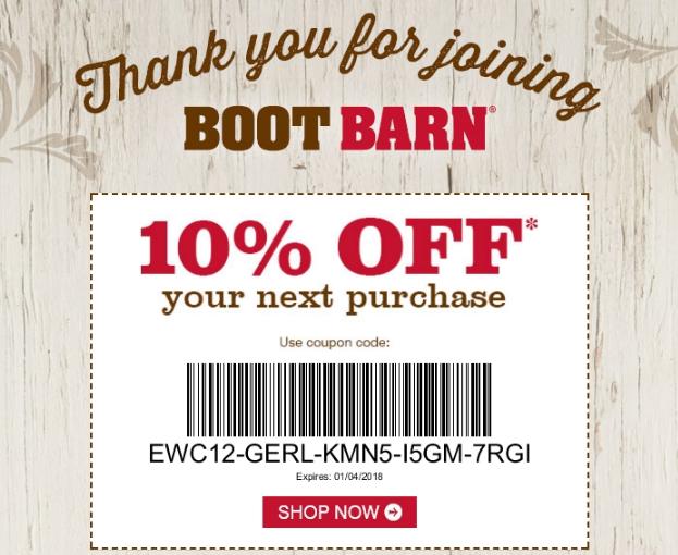 Boot Barn Rewards - Coupon Code
