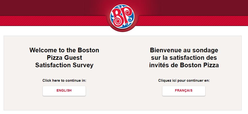 Boston Pizza Guest Survey
