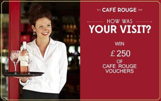Cafe Rouge Survey Rewards