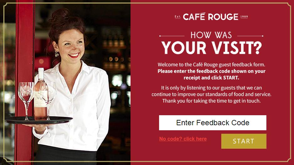 Cafe Rouge Customer Feedback Survey