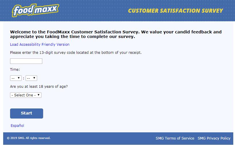 Foodmaxx Supermarket Feedback Survey