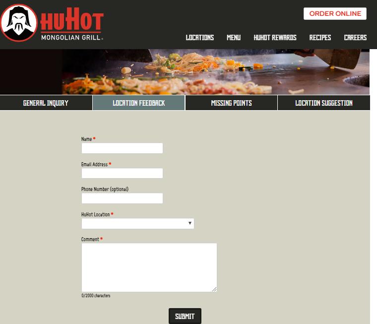 HuHot Guest Satisfaction Survey
