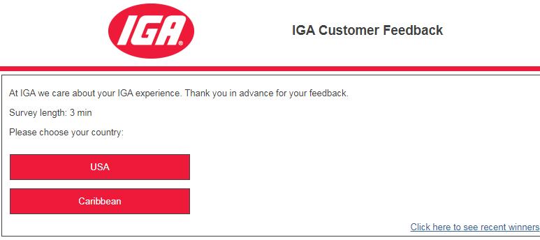IGA Customer Satisfaction Survey