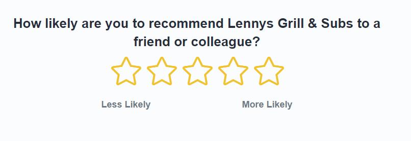 Lenny's Guest Experience Survey