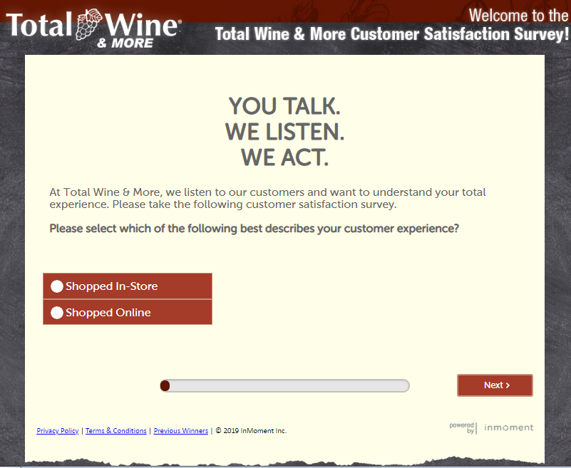 Total Wine Customer Survey