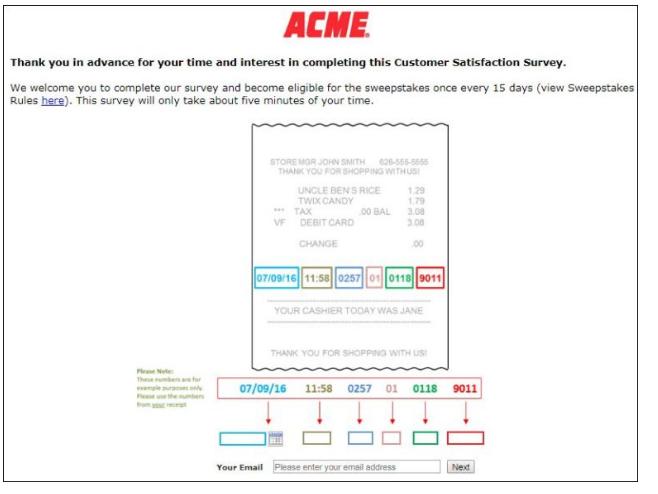 ACME Customer Experience Survey
