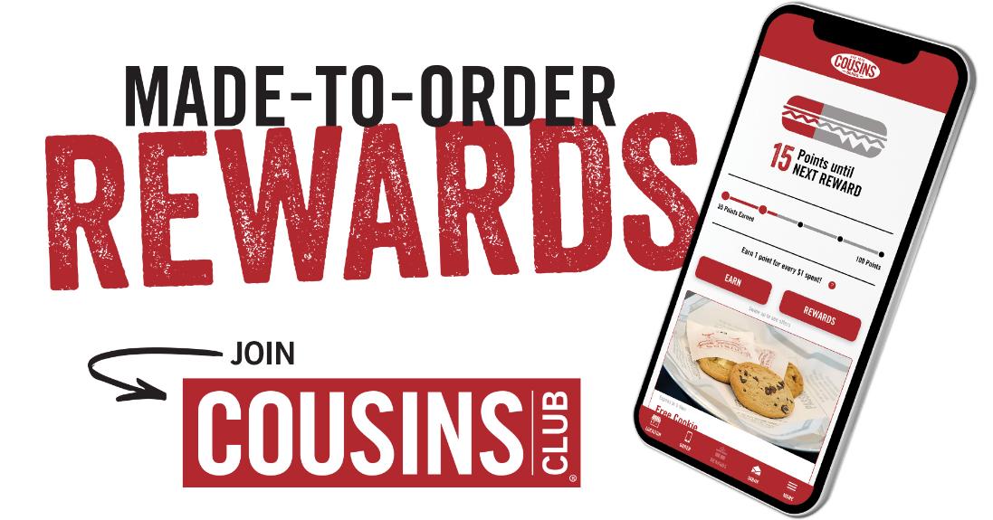 Rate Cousins Subs Survey Rewards