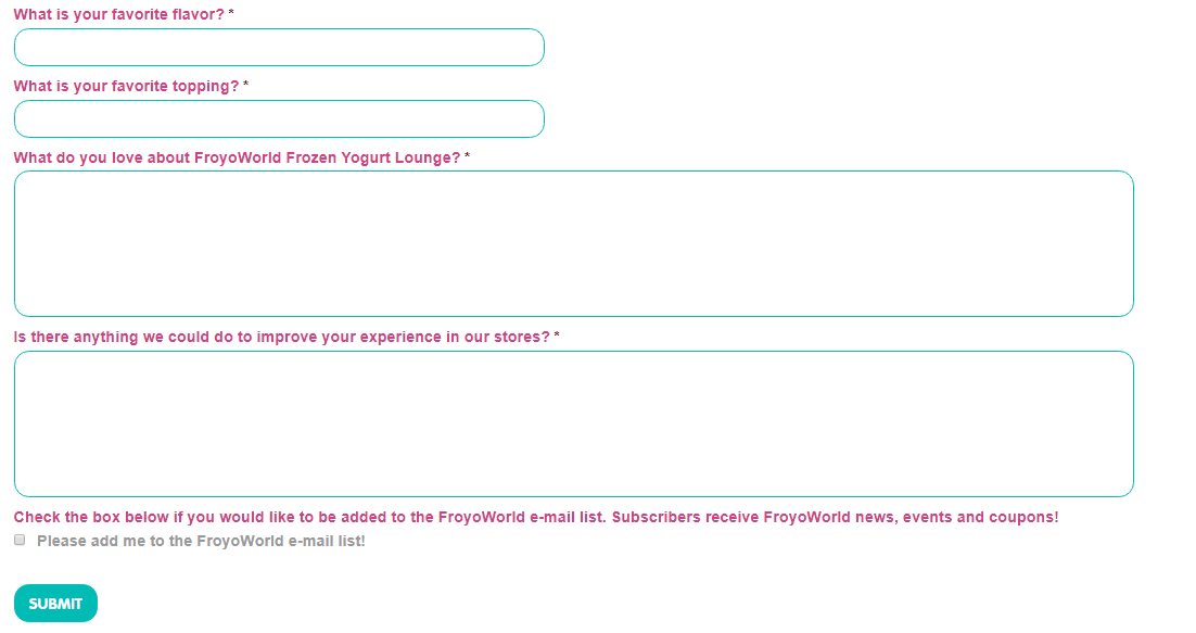 FroyoWorld Guest Survey