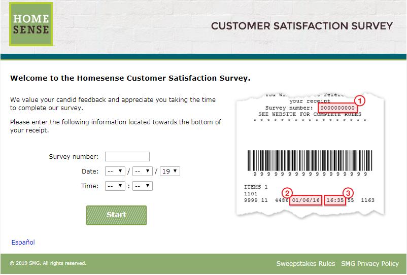 www.HomeSenseFeedback.com Survey