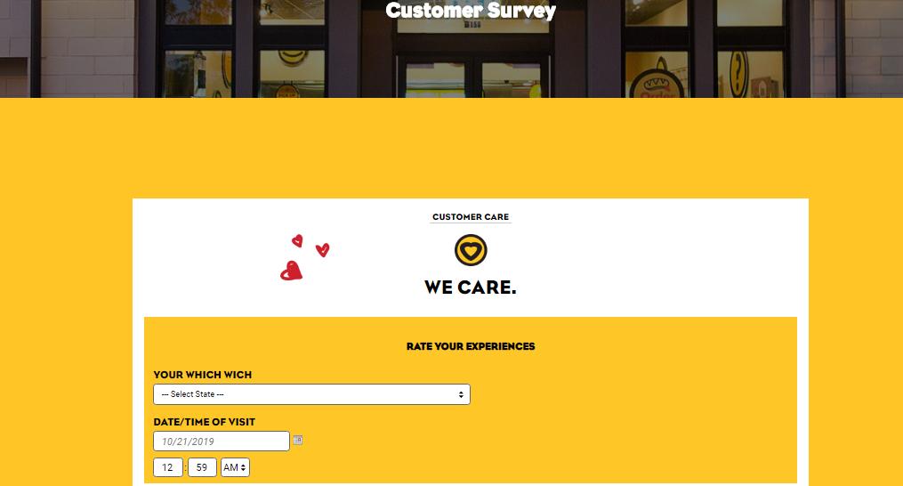 Which Wich Survey