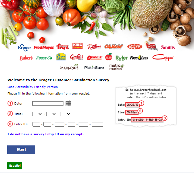 Fred Meyer Survey Homepage