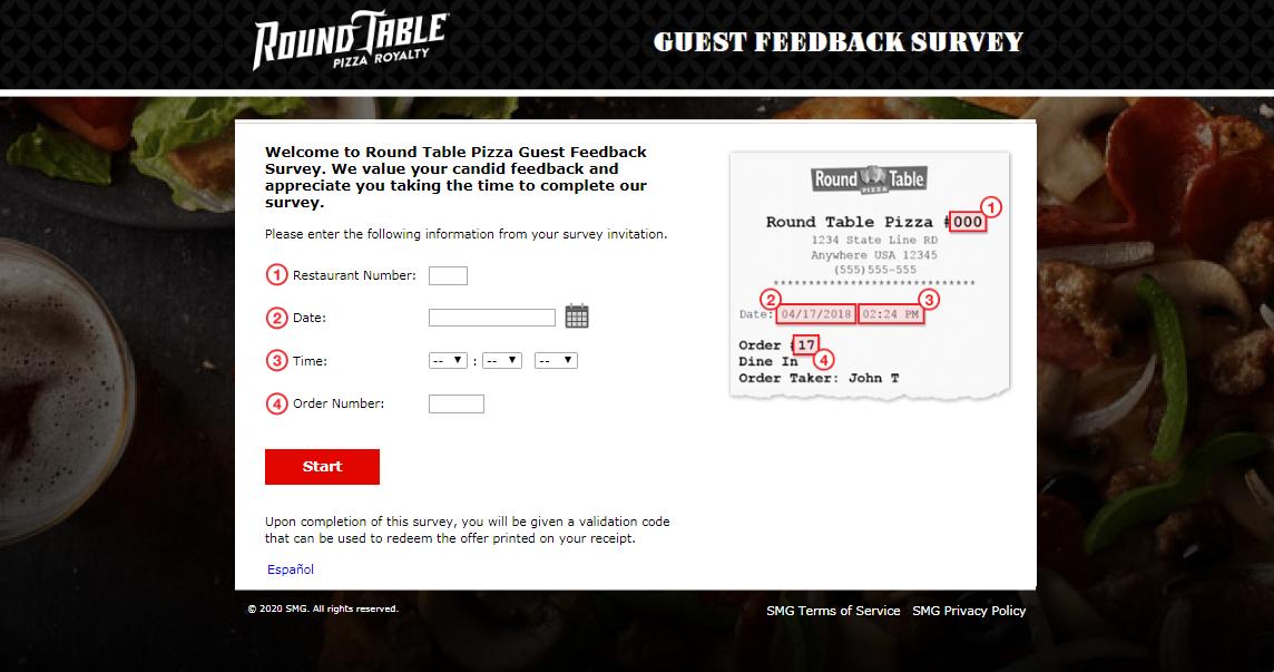 Round Table Pizza Customer Survey