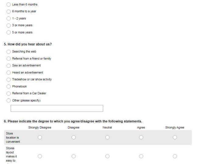 Michelin Wiper Promo Survey