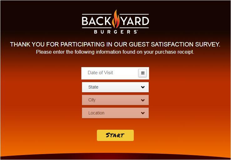 Back Yard Burger Survey