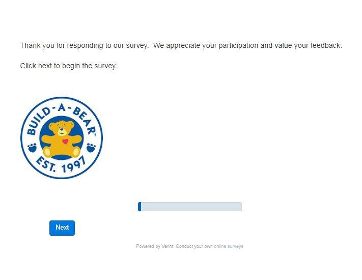 Build a Bear Survey