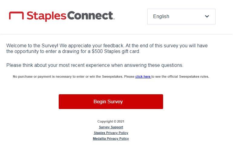 Staples Survey