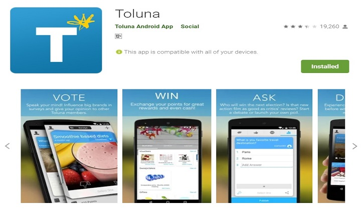Toluna best money making app