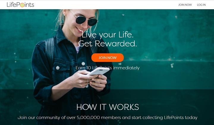 LifePoints paid survey site