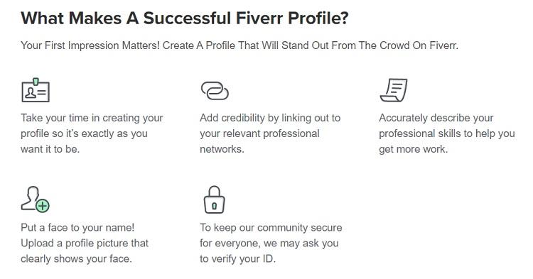 Fiverr profile