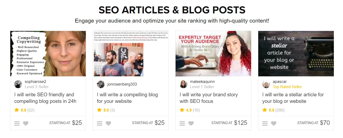 Seo article fiverr gigs