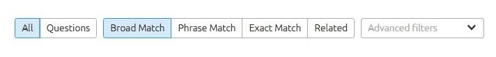 SEMrush modifiers