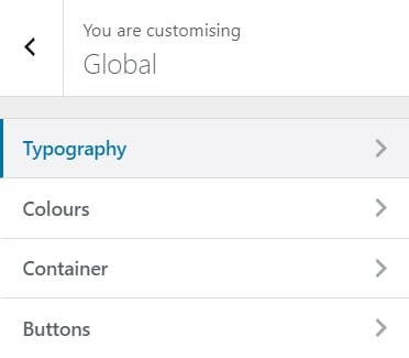 astra wordpress theme customization