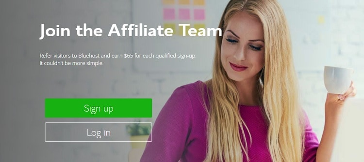bluehost affiliates sign up