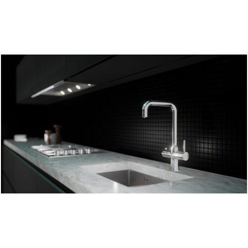 chrome boiling instant kitchen tap