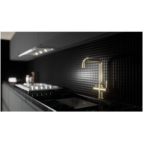 gold hot water instant kitchen tap