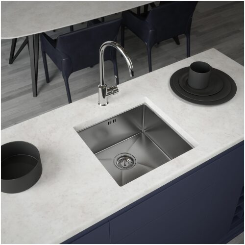Brushed Stainless Steel Kitchen Sink 1.0 bowl