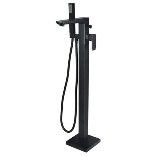 rak moon free standing shower filler black main image
