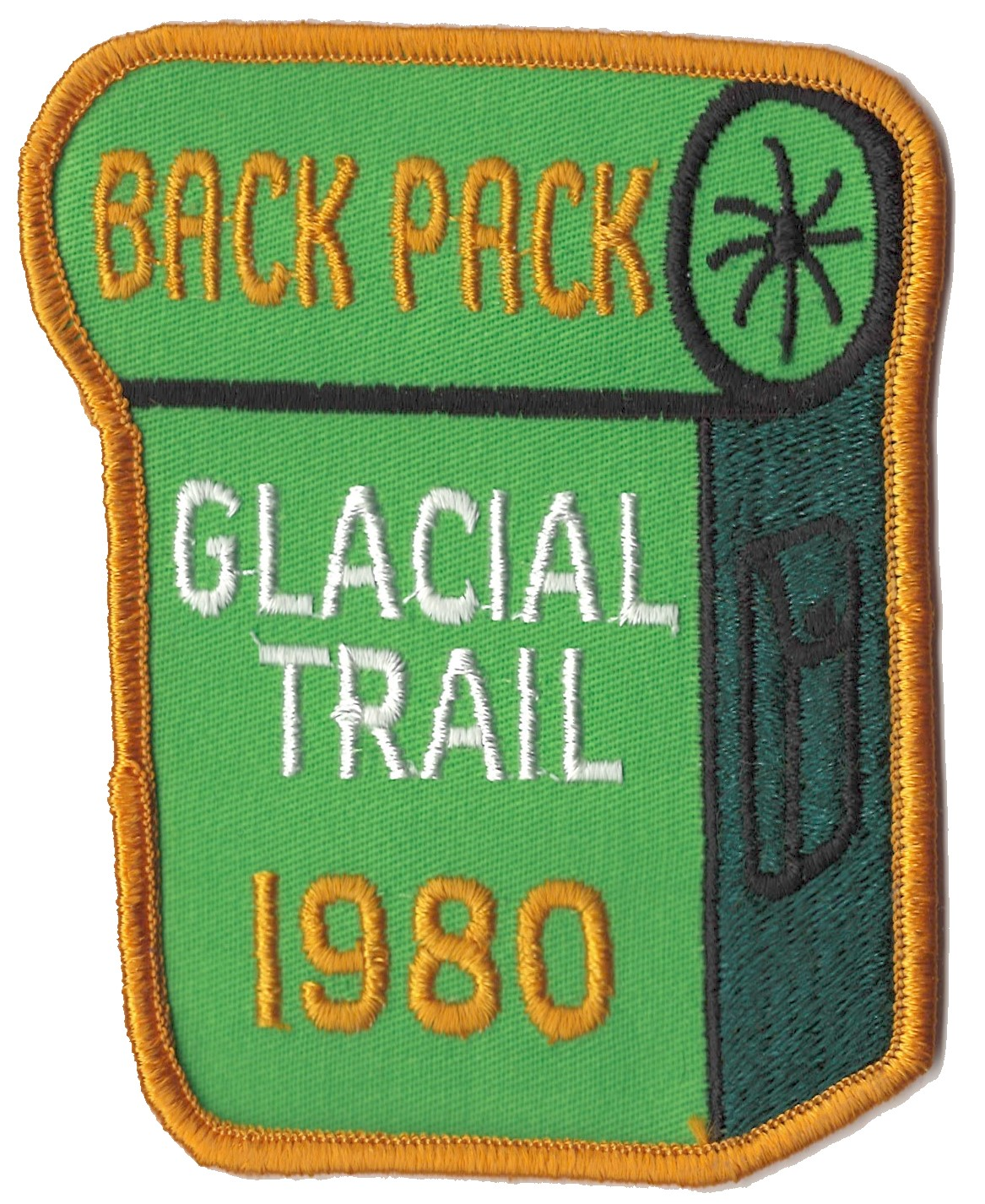 Badger Trails Glacial Trail Hike Patch 1980