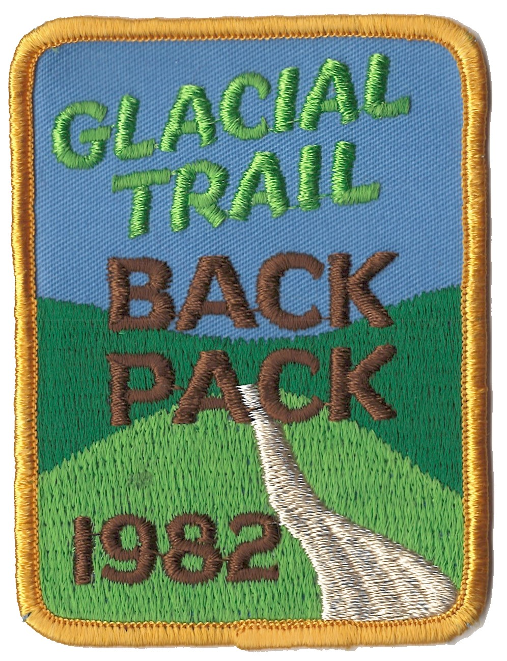 Badger Trails Glacial Trail Hike Patch 1982