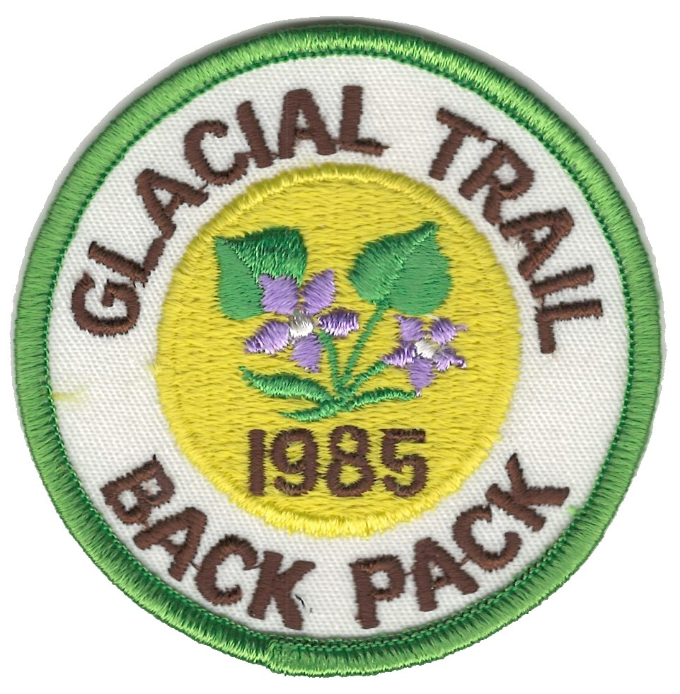 Badger Trails Glacial Trail Hike Patch 1985
