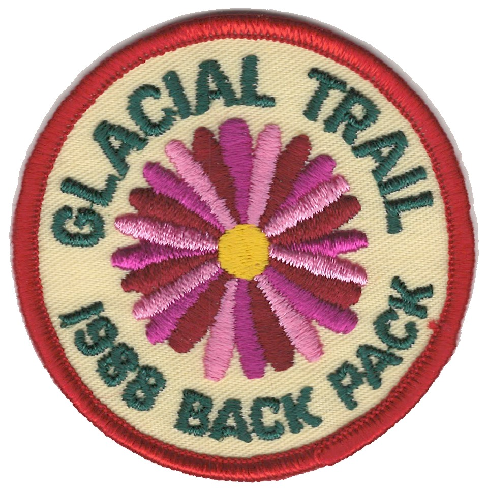 Badger Trails Glacial Trail Hike Patch 1988