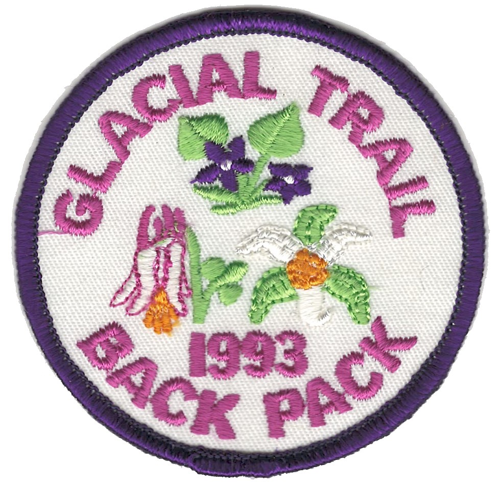 Badger Trails Glacial Trail Hike Patch 1993
