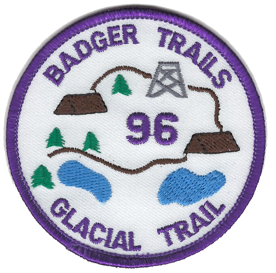 Badger Trails Glacial Trail Hike Patch 1996