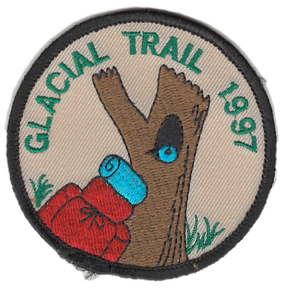 Badger Trails Glacial Trail Hike Patch 1997