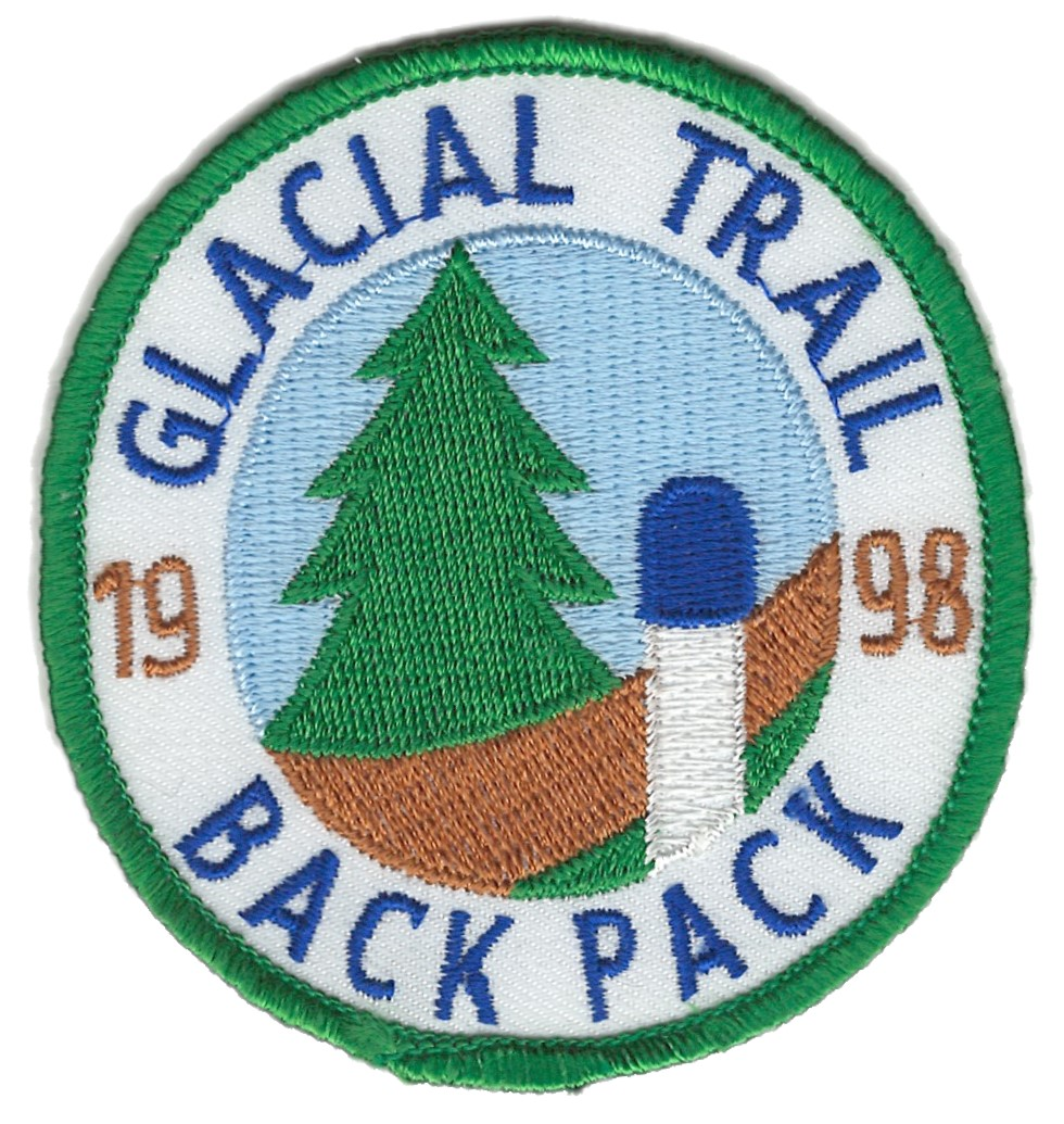 Badger Trails Glacial Trail Hike Patch 1998