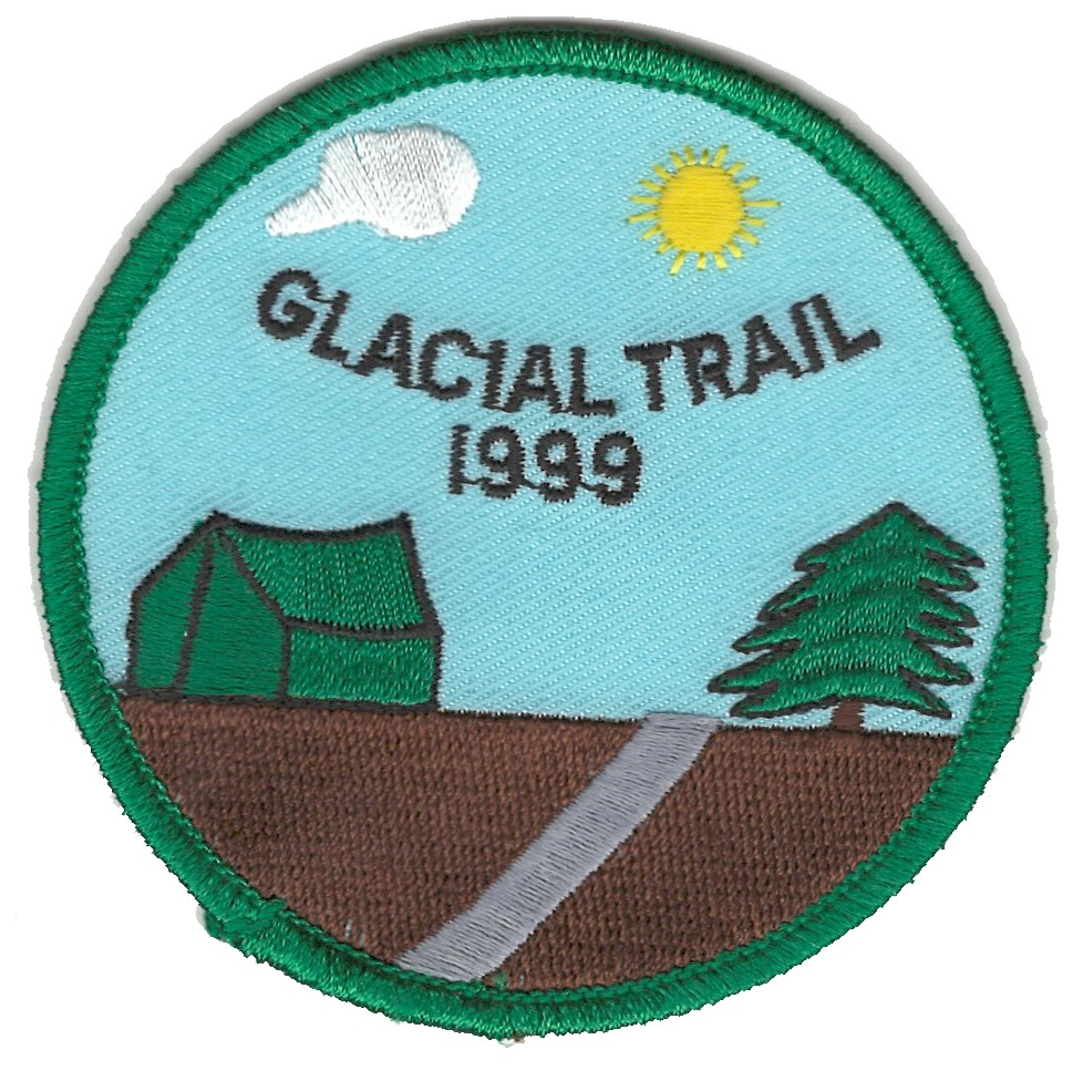 Badger Trails Glacial Trail Hike Patch 1999