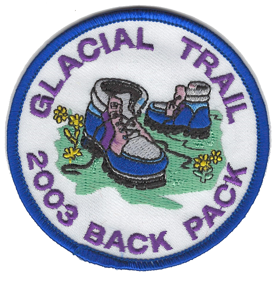 Badger Trails Glacial Trail Hike Patch 2003