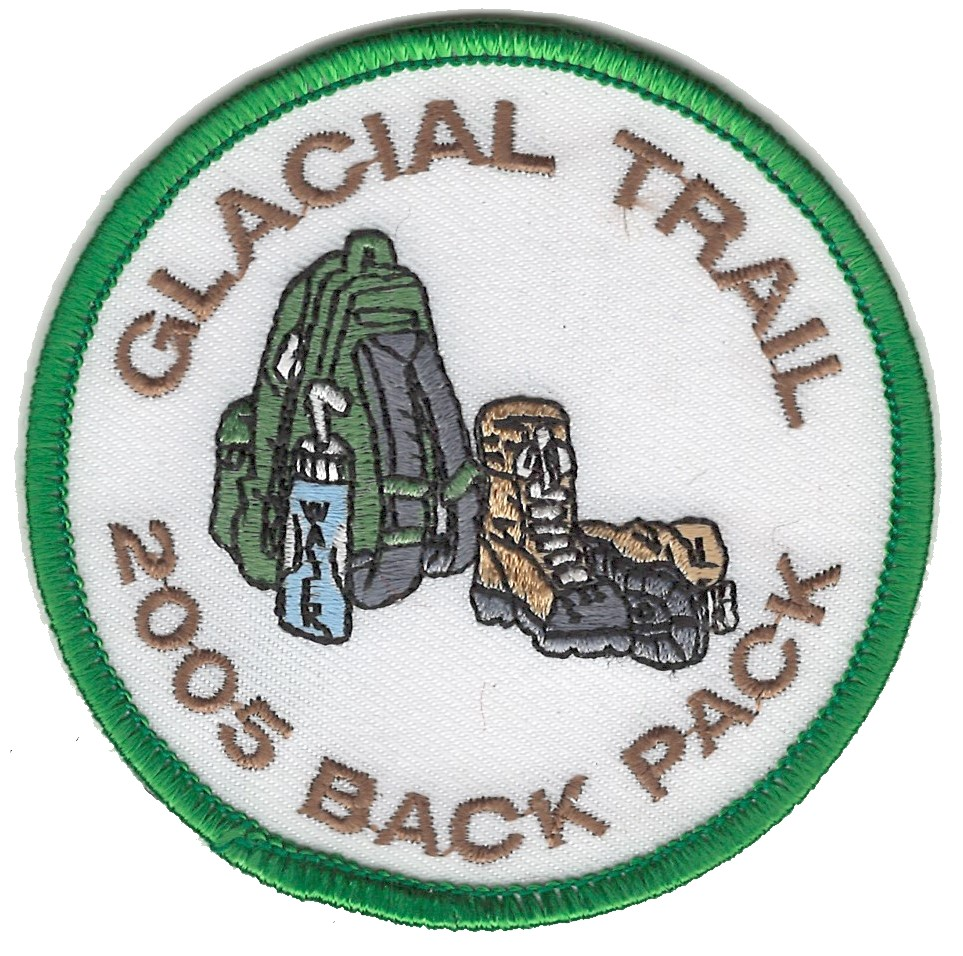 Badger Trails Glacial Trail Hike Patch 2005