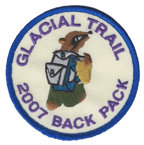 Badger Trails Glacial Trail Hike Patch 2007