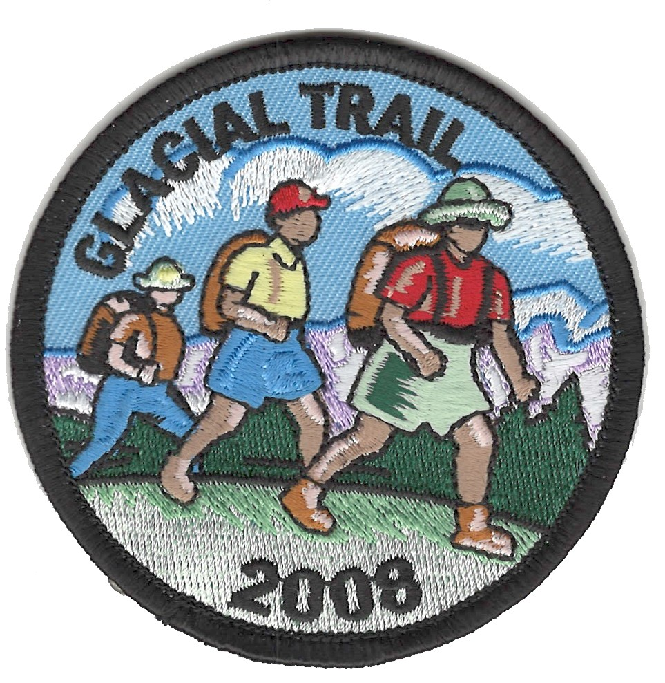 Badger Trails Glacial Trail Hike Patch 2008