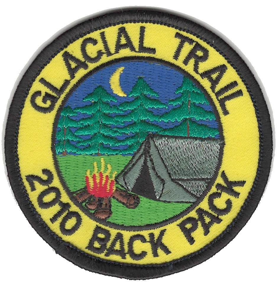 Badger Trails Glacial Trail Hike Patch 2010