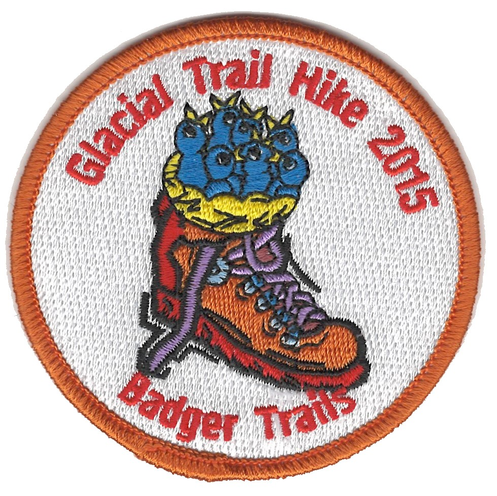 Badger Trails Glacial Trail Hike Patch 2015