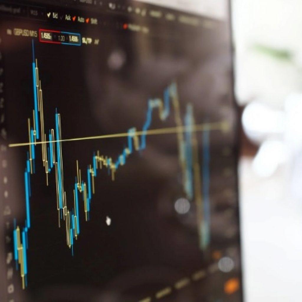Stock market index graph